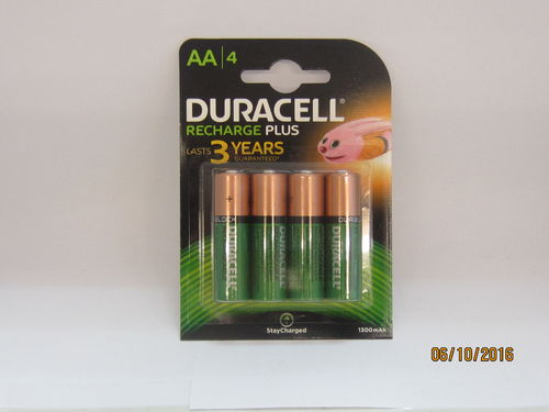 DURACELL TYPE AA RECHARGEABLE BATTERY