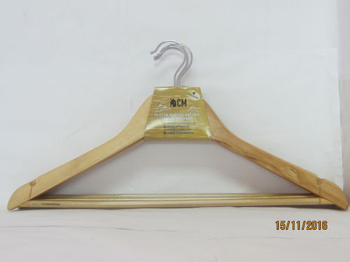 NATURAL COLORED WOODEN HANGER