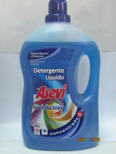 ASEVI DETERGENT active GEL CONCENTRATED LIQUID