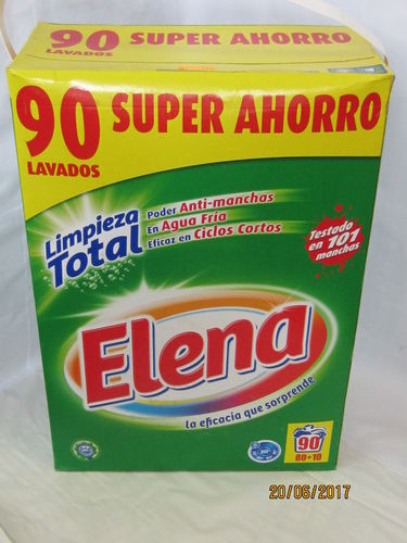 ELENA | DETERGENT | POWDER FORMAT 90 WASHING MACHINE
