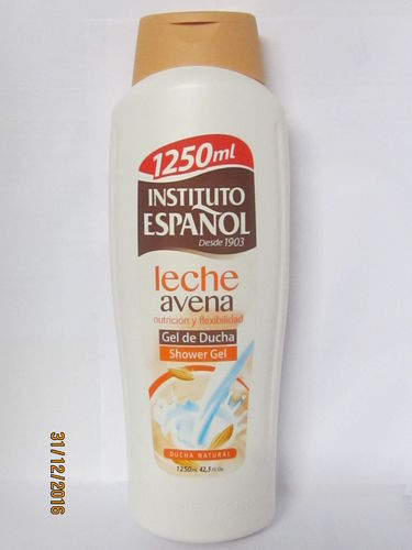 INSTITUTO ESPAÑOL. GEL DE BAÑO LECHE Y AVENA FORMATO FAMILIAR