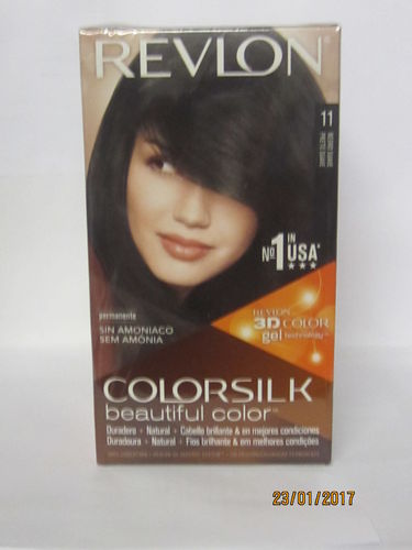 REVLON COLORSILK Nº11 COLOR NEGRO SUAVE TINT CABELLO SIN AMONIACO