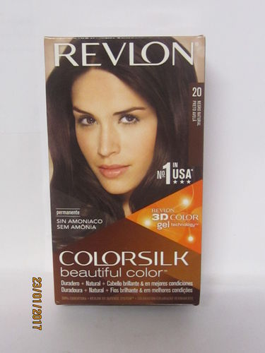 REVLON COLORSILK Nº20  NEGRO NATURAL TINTE CABELLO SIN AMONIACO