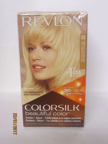 REVLON COLORSILK Nº03 RUBIO ULTRA CLARO BRILLANTE SIN AMONIACO