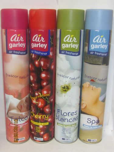 AMBIENTADOR SPRAY AIR GARLEY, flores blancas,talco,spa,cereza