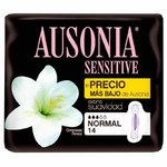 AUSONIA SENSITIVE COMPRESSES NORMAL WINGS