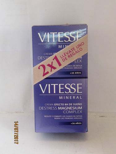 VITESSE MINERAL CREMA FACIAL  2X1 -4 TIPOS-