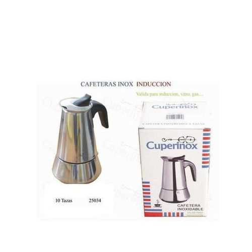 CUPERINOX STAINLESS STEEL COFFEE MAKER. INDUCTION 10 CUPS