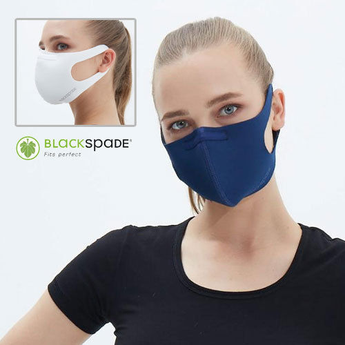 UNISEX HYGIENIC MASK BRAND BLACK SPADE green camouflage