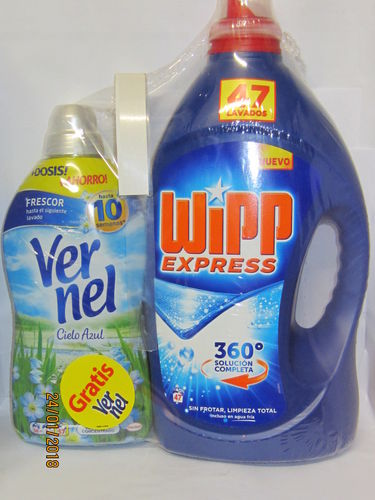 WIPP EXPRESS DETERG.Liquid 45 DOSE + SOFTENER VERNEL 57 DOSAGE